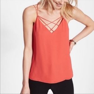NWT Express Coral Strappy Crisscross Cami Top